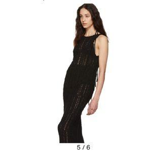 Eckhaus Latta Black Spider Web Dress